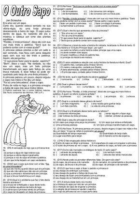 Atividades Diversas Claudia Provas De Lingua Portuguesa Com