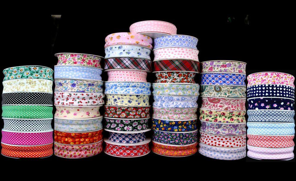 Choice of Design Bias Binding Patterned Cotton 25mm