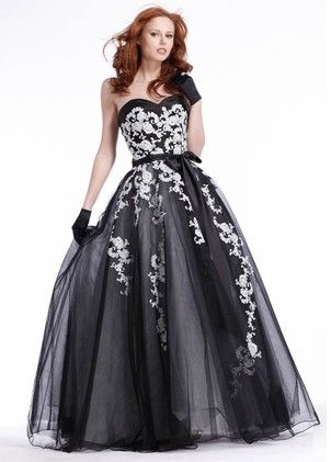 black and whit prom dress | Wedding Boston | Pinterest | Prom, Black ...