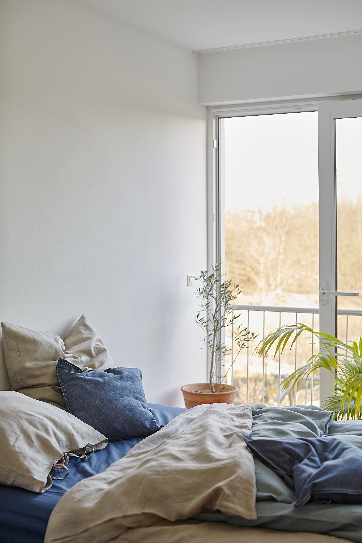 SANELA Cushion cover dark blue IKEA Switzerland Ikea