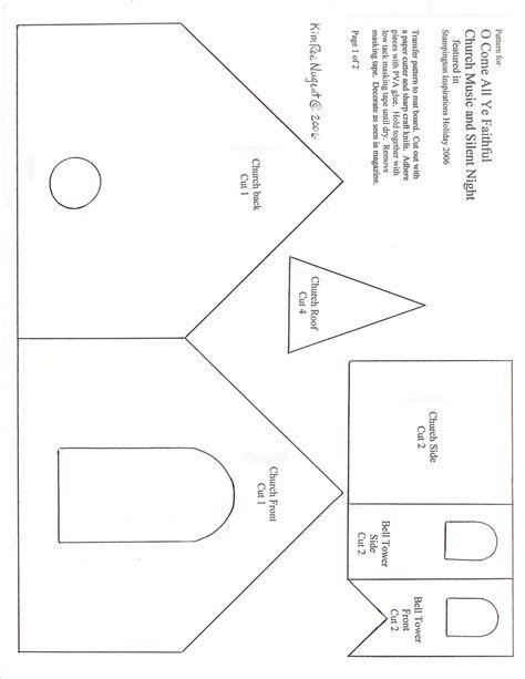 Image Result For Church House Patterns Cardboard Dengan Gambar