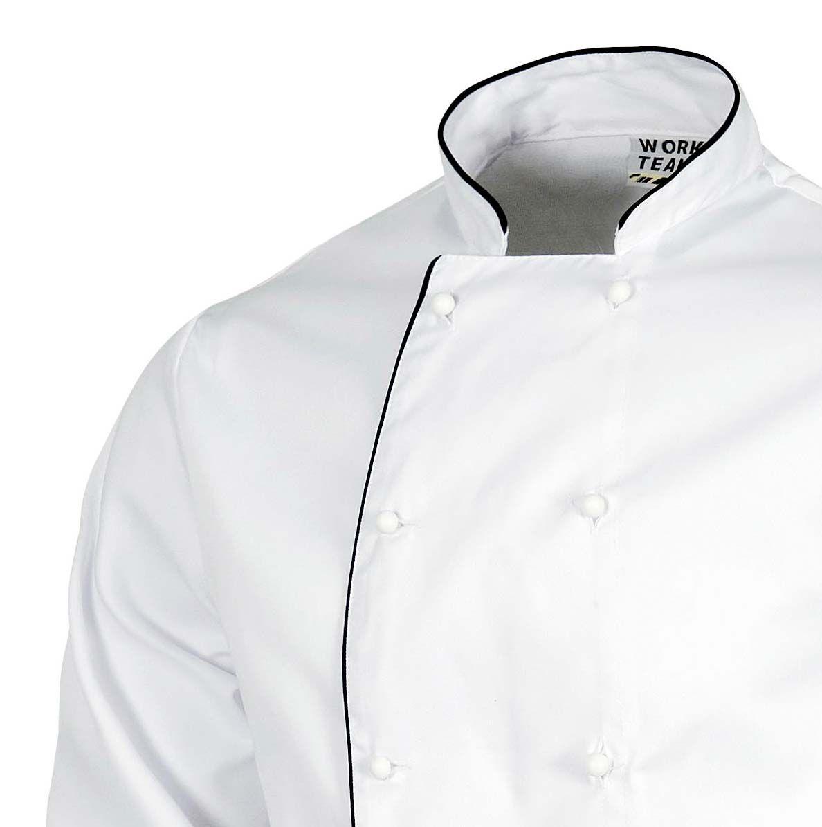 fdfb8801124 Casaca de cocina B9206 de Workteam   Ropa laboral   Casacas, Mangas ...