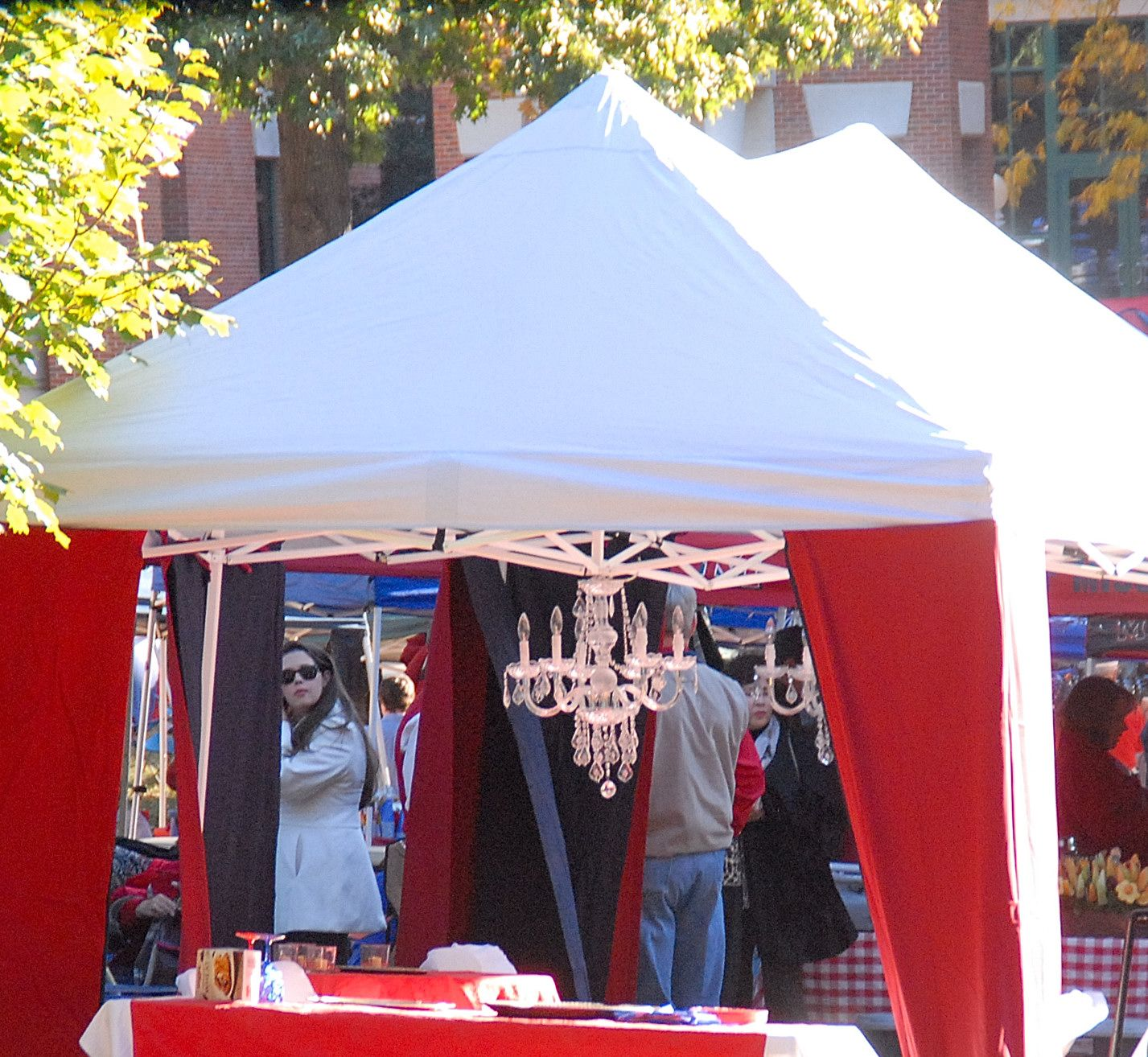 Ole miss lr wont let you have glass at tailgate have to be much tailgating tent curtains chandelier ole miss knows how to tailgate arubaitofo Gallery
