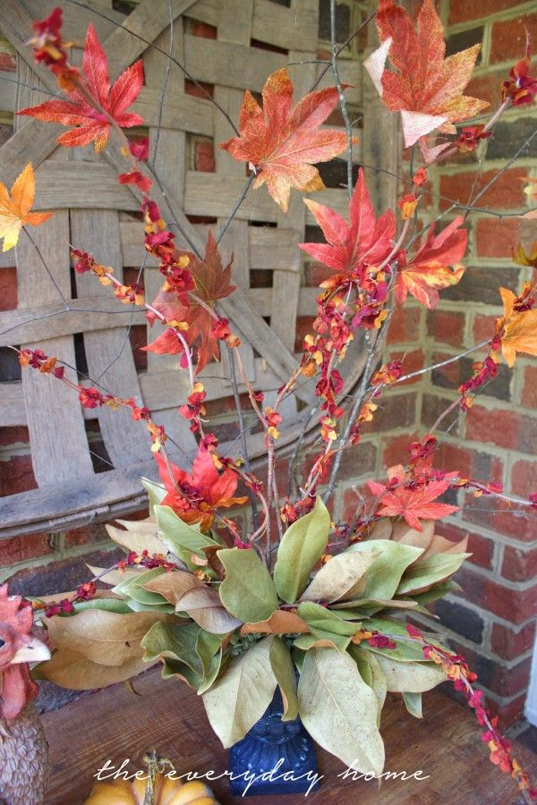 Faux Fall Branches October 25, 2015 By Barb 5 Comments Faux Fall Branches-from The Everyday Home