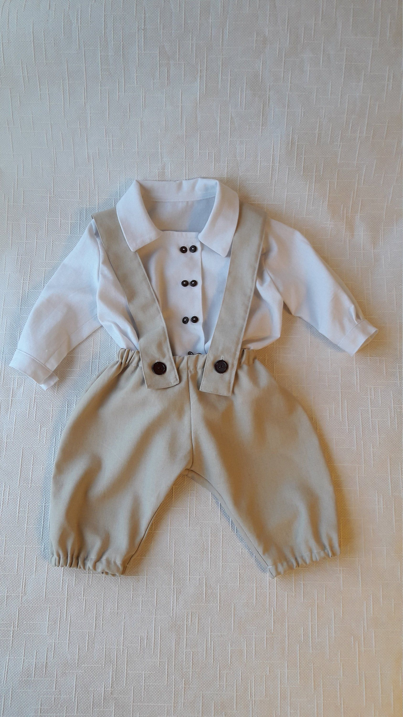 7d376cdfa Boy linen clothes, Baptism outfit, Boy wedding outfit, Baby pants ...