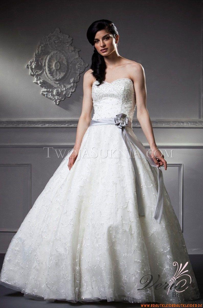 Trägerlos A-linie Günstige Brautkleider für Prinzessin ...