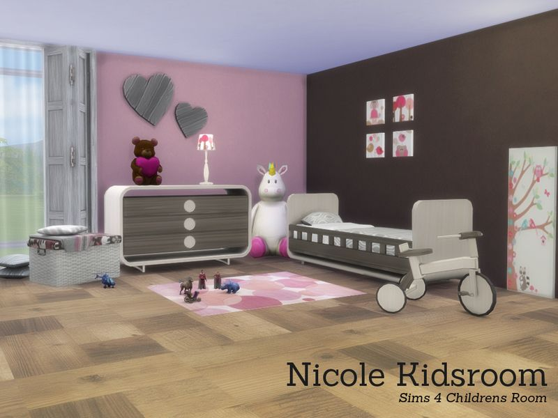 Nicole Kidsroom. Found in TSR Category \'Sims 4 Kids Bedroom Sets ...