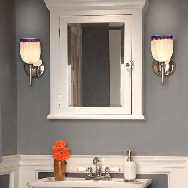 traditional bathroom by wac lighting wall sconces - Wall Sconces Bathroom
