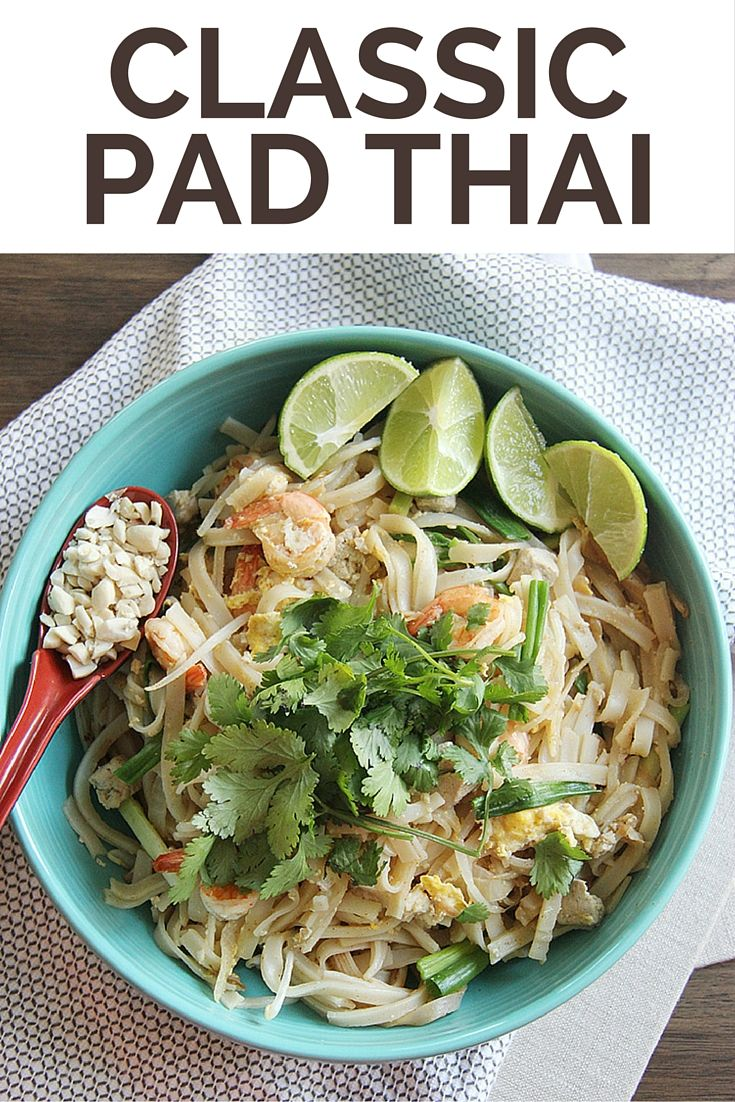 Classic pad thai recipe recipes food and dinners classic pad thai recipe forumfinder Image collections