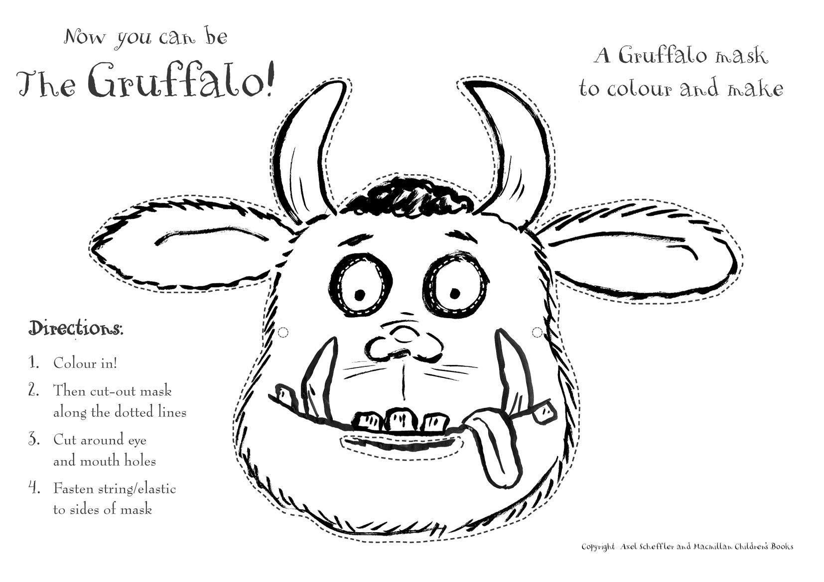 gruffalomasker  malvorlagen für kinder