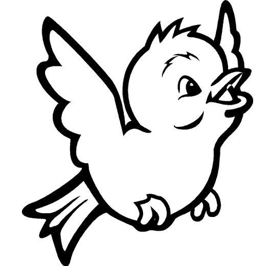 Canario Ave Pajaros Para Colorear Animalitos Para Colorear Dibujos De Pajaro