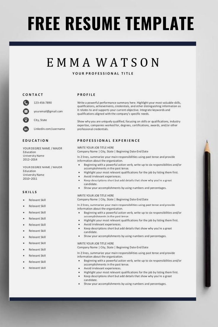 Are you looking for a free editable resume template? Sign