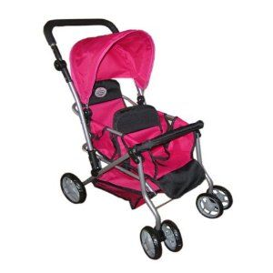 The New York Doll Collection My First Doll Twin Stroller ...