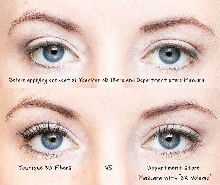 cd0ad334703 Younique 3d fiber eyelashes mascara before and after #HowToApplyMascara