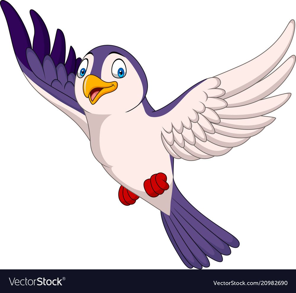 Cartoon Bird Flying Isolated On White Background Download A Free Preview Or High Quality Adobe Illustrator Ai Eps Pdf And Cartoon Birds Birds Flying Cartoon