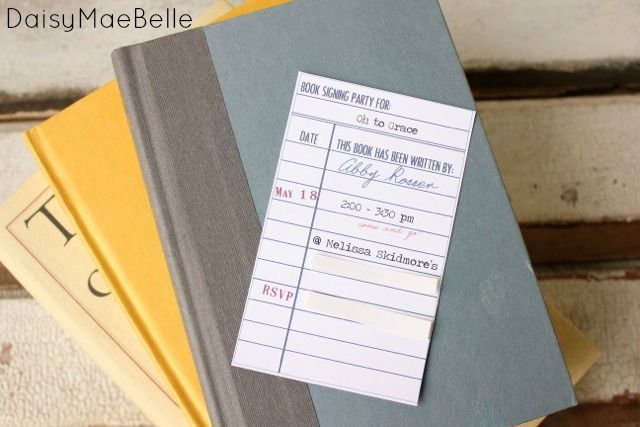 Library Card Invitations @ DaisyMaeBelle