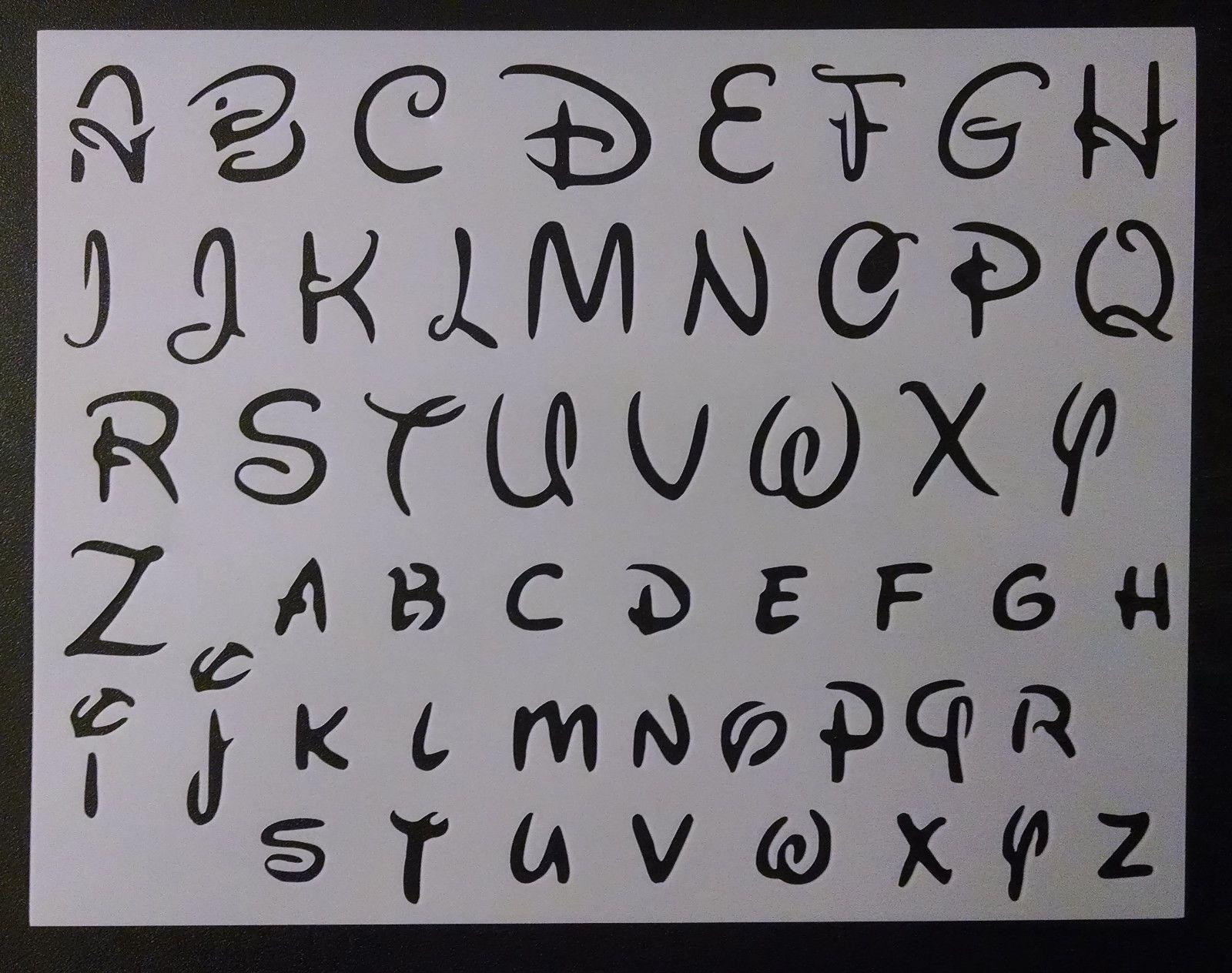 Disney Alphabet Letters 12 Font 11 x