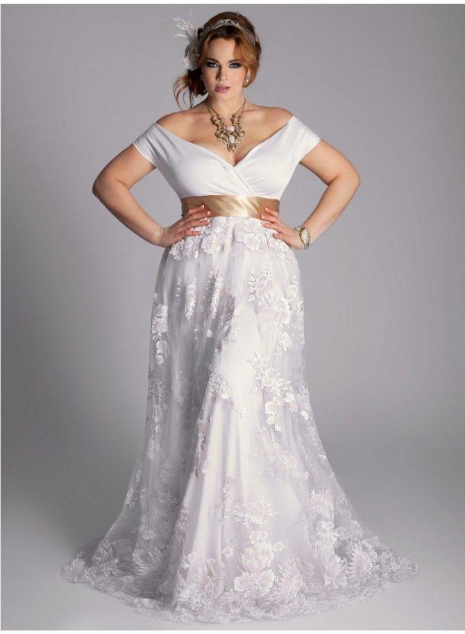 antique wedding dress uk%0A So Nice  u     Simple Plus Size Wedding Dress  I love it with a camo sash