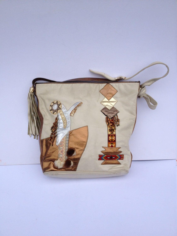 Vintage 80 S Leather Bag Shoulder Cross Body 1980 Handbag By Tukvintage On