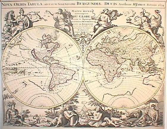 Antique World Maps from The Philadelphia Print Shop MAPS
