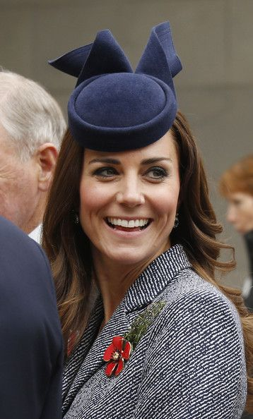 Catherine, Duchess of Cambridge smiles during her visit to the Australian War Memorial on ANZAC Day on April 25 2014 in Canberra, Australia.