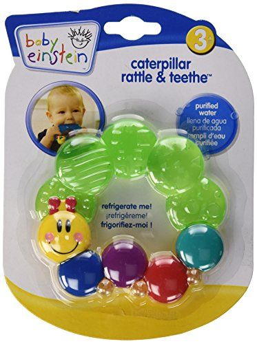 Baby Einstein Rattle and Teether Caterpillar, Colors May Vary Baby Einstein http://www.amazon.com/dp/B003FLLQXG/ref=cm_sw_r_pi_dp_oNHWvb1ETJAED