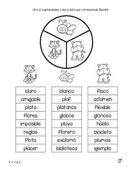 Spanish Decodable Spinners Set 4 Teaching Spanish Pinterest