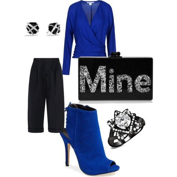 """""""Don't step on my blue suede shoes!"""" by kenya-turner on Polyvore"""