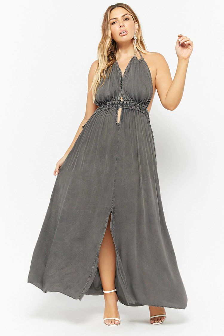 1f4cdbf970a62 Product Name Plus Size Boho Me Plunging Halter Maxi Dress