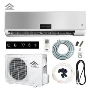 Elegance 12 000 Btu 1 Ton Ductless Mini Split Air Conditioner 110 Volt 60hz A37gw2c Elg The Home Depot Ductless Mini Split Central Air Conditioning System Ductless