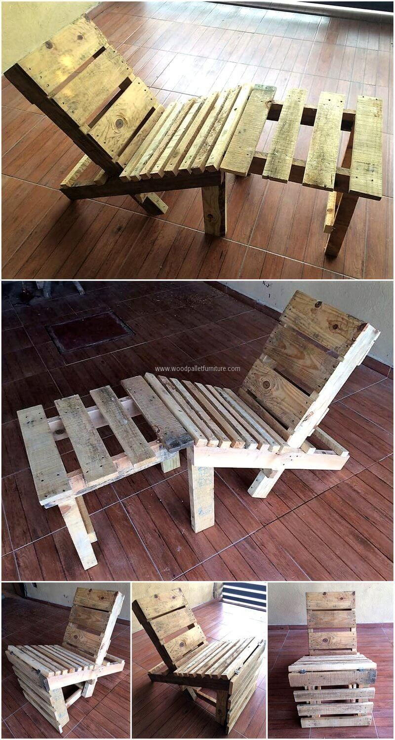 repurposed used wood pallets chair to be we and chairs rh pinterest com