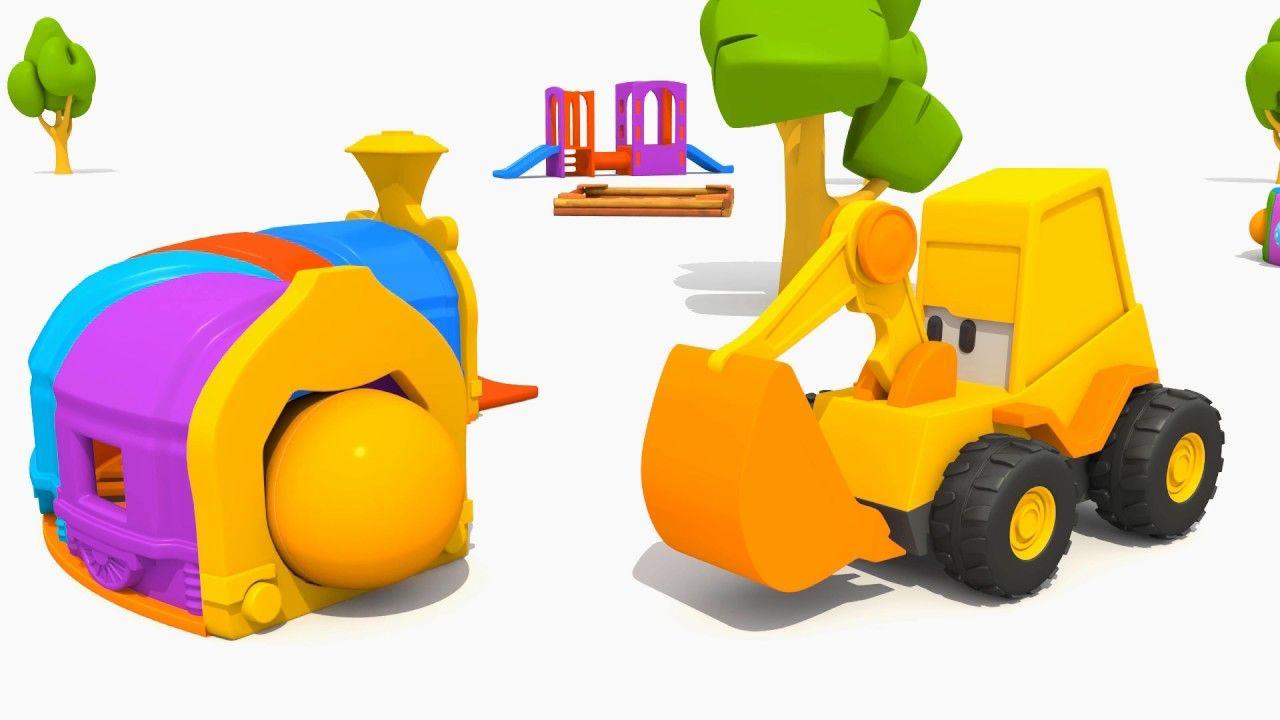 L escavatore max ed il muletto cartoni animati per bambini