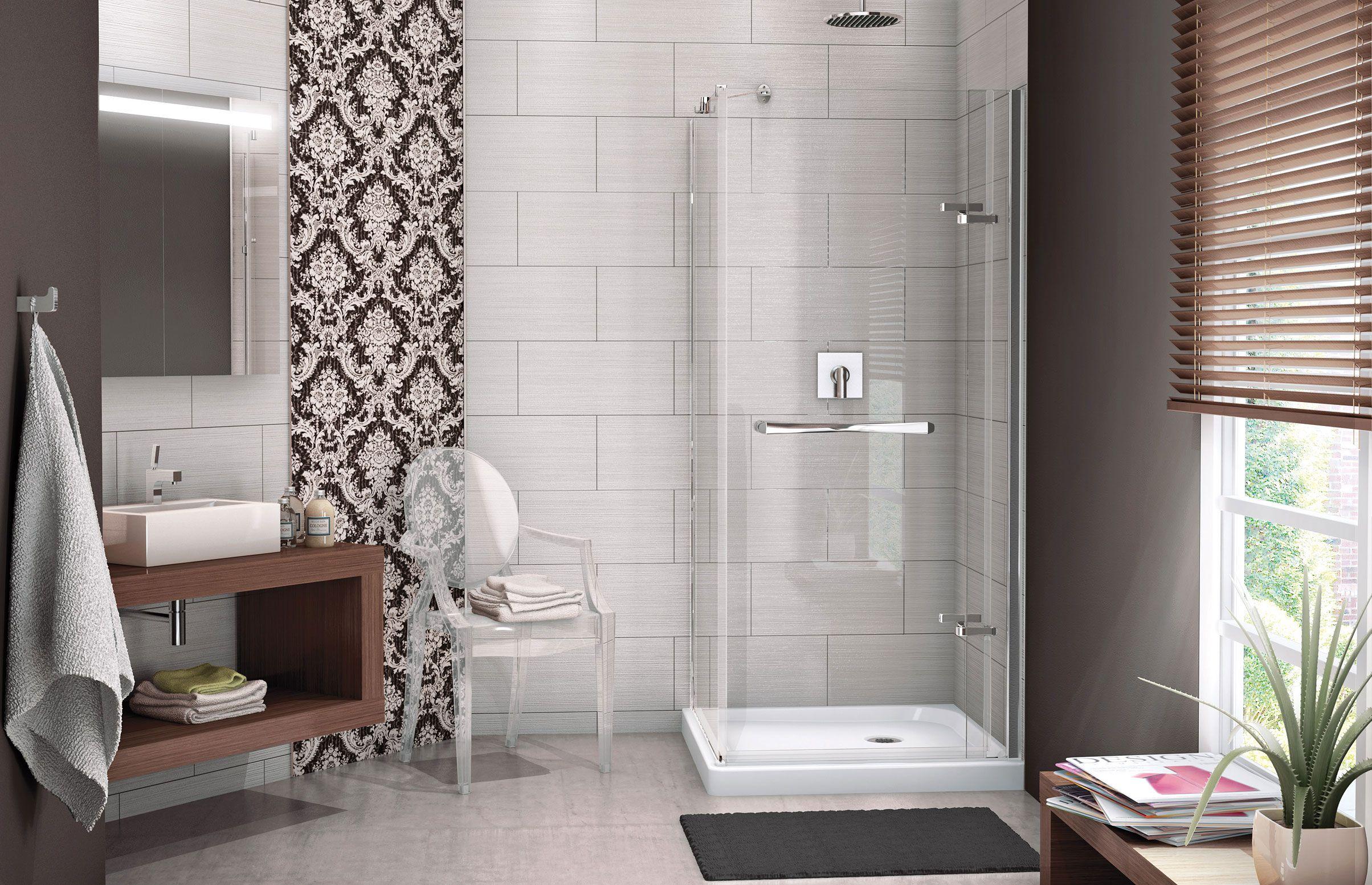 Strip for MAAX shower door & MAAX - Reveal Corner Shower Door www.maax.com #Shower #Bathroom ...