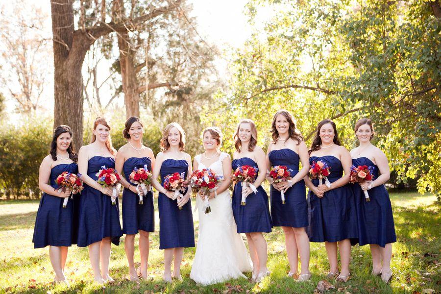 Navy Bridesmaids Elizabeth Anne Designs The Wedding