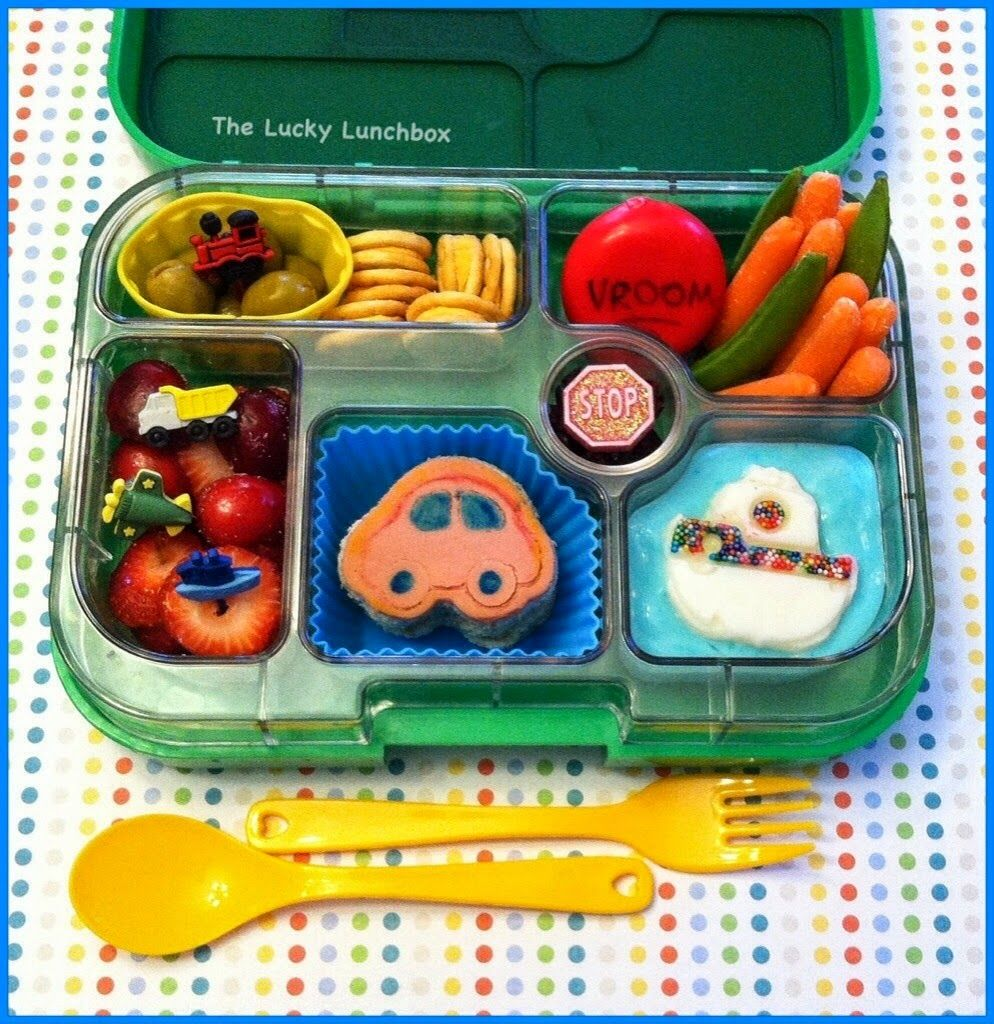 b6f1e2f0e48f The Lucky Lunchbox  Transportation themed lunch packed in the Yumbox ...