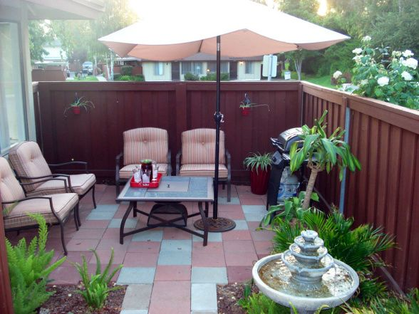 Small Patio Makeover   Patios U0026 Deck Designs   Decorating Ideas   HGTV Rate  My Space