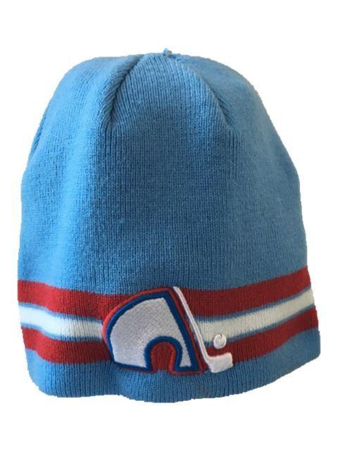 24dc60cc21e VTG Quebec Nordiques NHL Tossle Knit Cap Hat Beanie