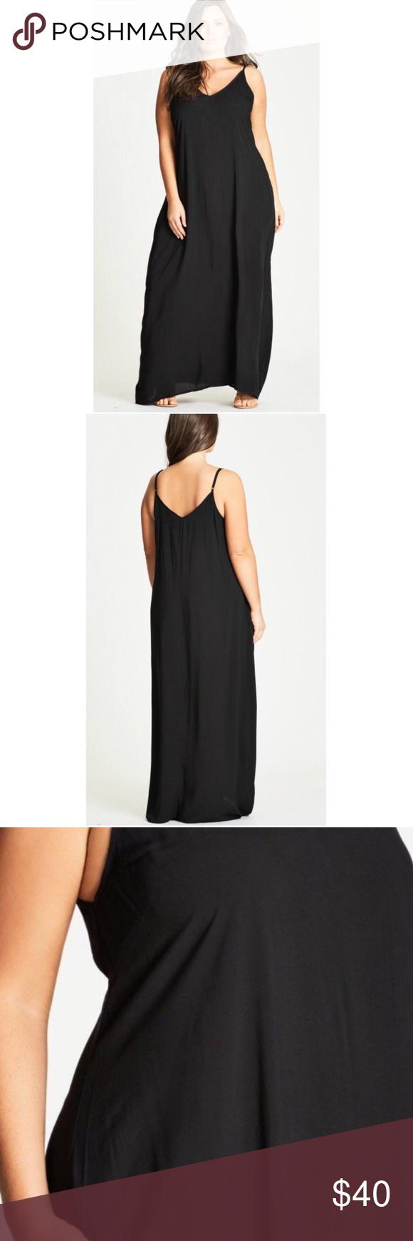 e8c381f6ea City Chic Maxi Dress 16W 1X Black Sleeveless City Chic Maxi Dress 16W 1X  Black Sleeveless