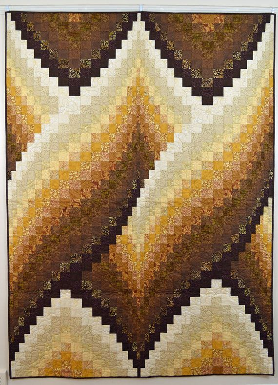 Brown And Cream Twisted Bargello Quilt Bargello Quilt Patterns Bargello Quilt Bargello Patterns