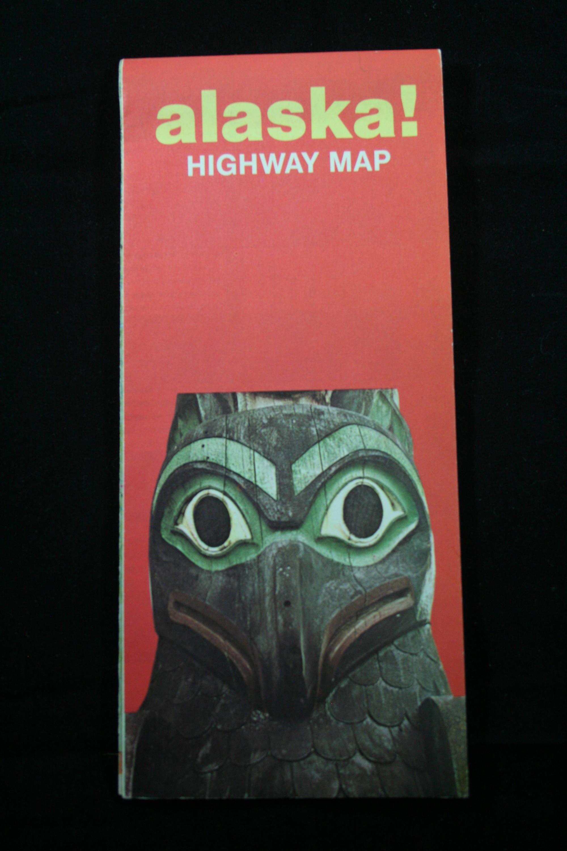 Alaska Vintage Official Highway Map 1973 Rand