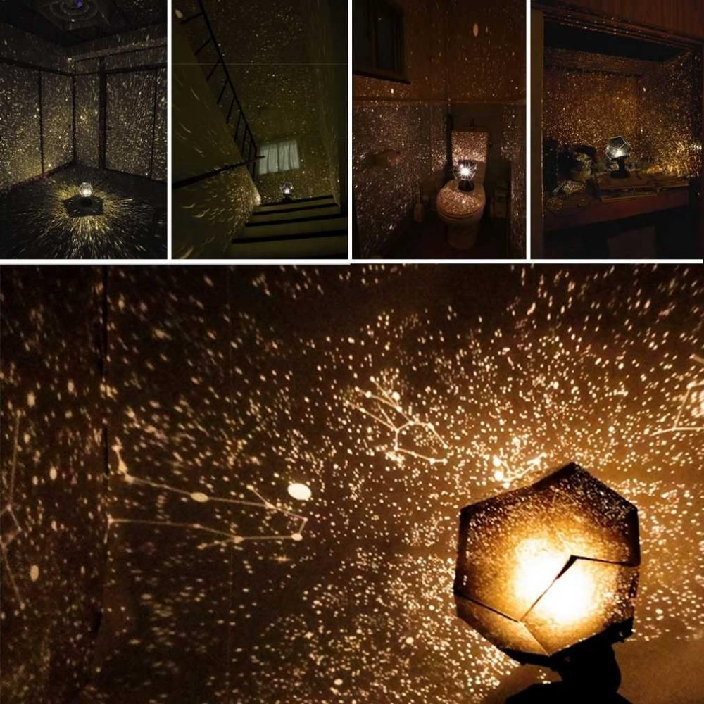 3027c1a70a64 Celestial Star Astro Sky Projection Cosmos Night Lights Projector Night Lamp  Starry Romantic Bedroom Decoration Lighting Gadget