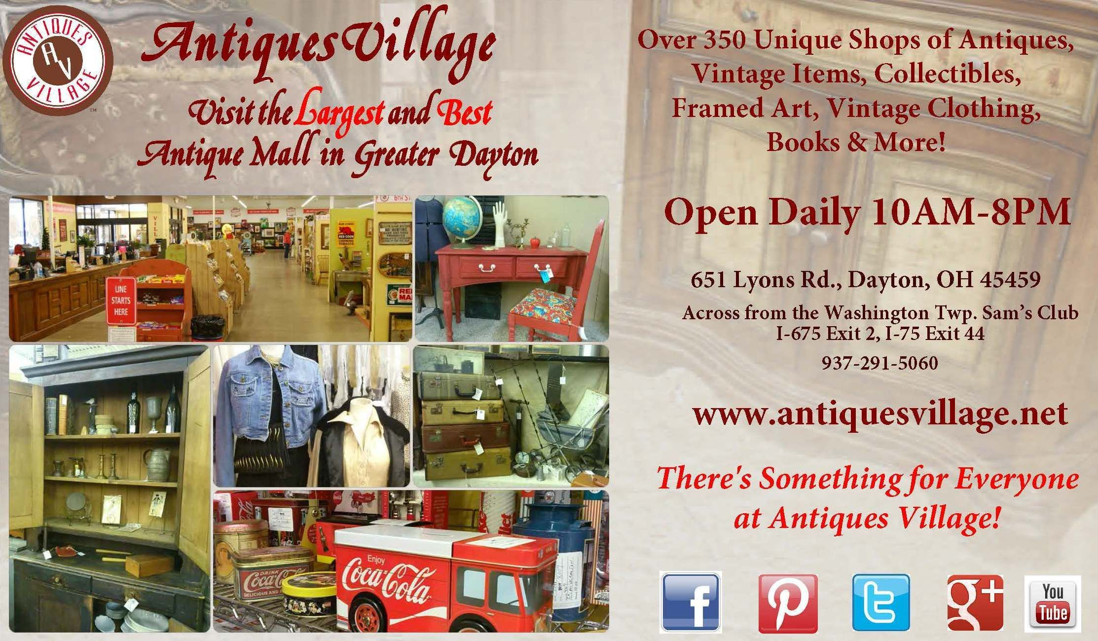 Antiques Village The Largest And Best Antique Mall In Dayton Ohio
