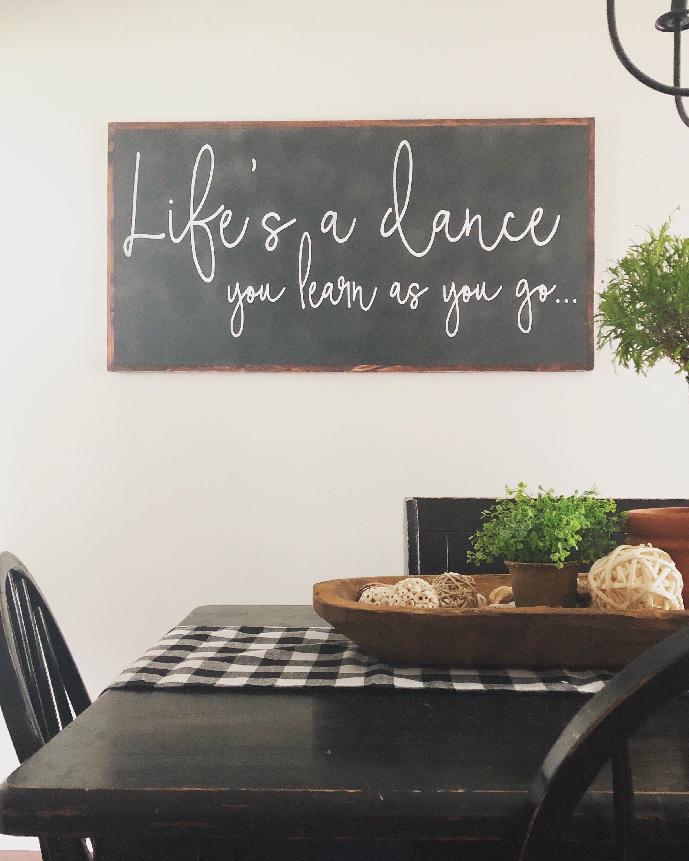 Life's a Dance Sign- Country Song Lyrics- Large Wood Sign- Extra Large Wall Art- Country Music Decor