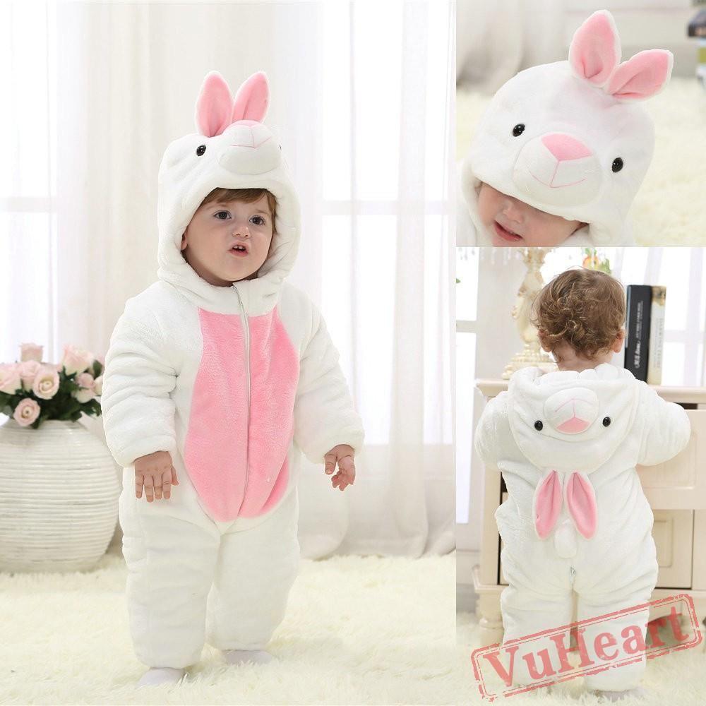 cc5de9c0769d White Rabbit Kigurumi Onesies Pajamas Costumes Winter Pajamas for Baby