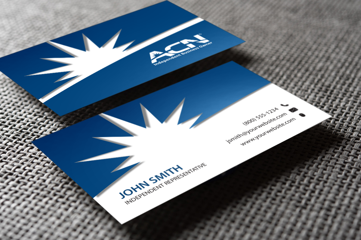 Acn Business Cards Are Now Available Mlm Acn Print Paper Graphicdesign Businesscards Contact Printing Business Cards Free Business Cards Business Cards