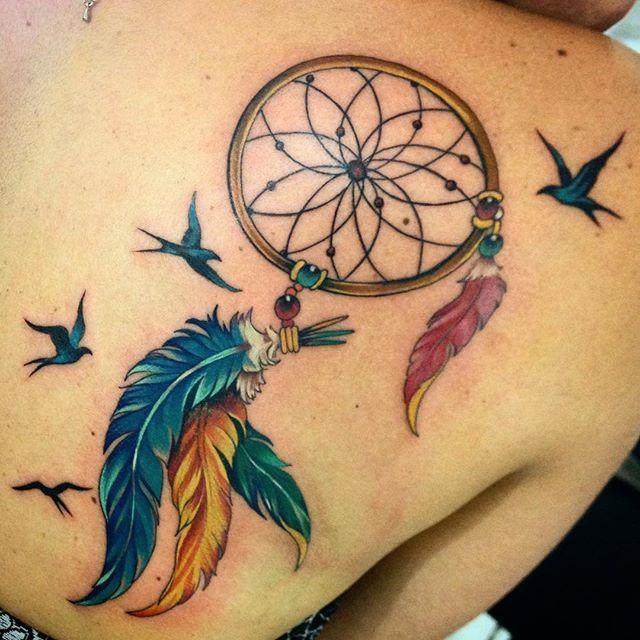 Tatuagem Filtro Dos Sonhos Gongue Tattoo Tatuagem Filtro