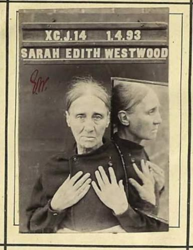 Sarah Rose Edith Westwood: This old lady used three aliases and was sent for their offenses for five years in prison. Among other things they had in 1870 illegally a bottle of sherry worried and six large bottles of stout and a pound of cookies. The picture shows them on 1 April, 1893. prison of Dorchester