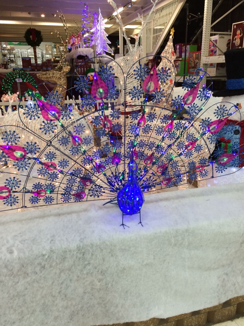 outdoor light up peacock from menards