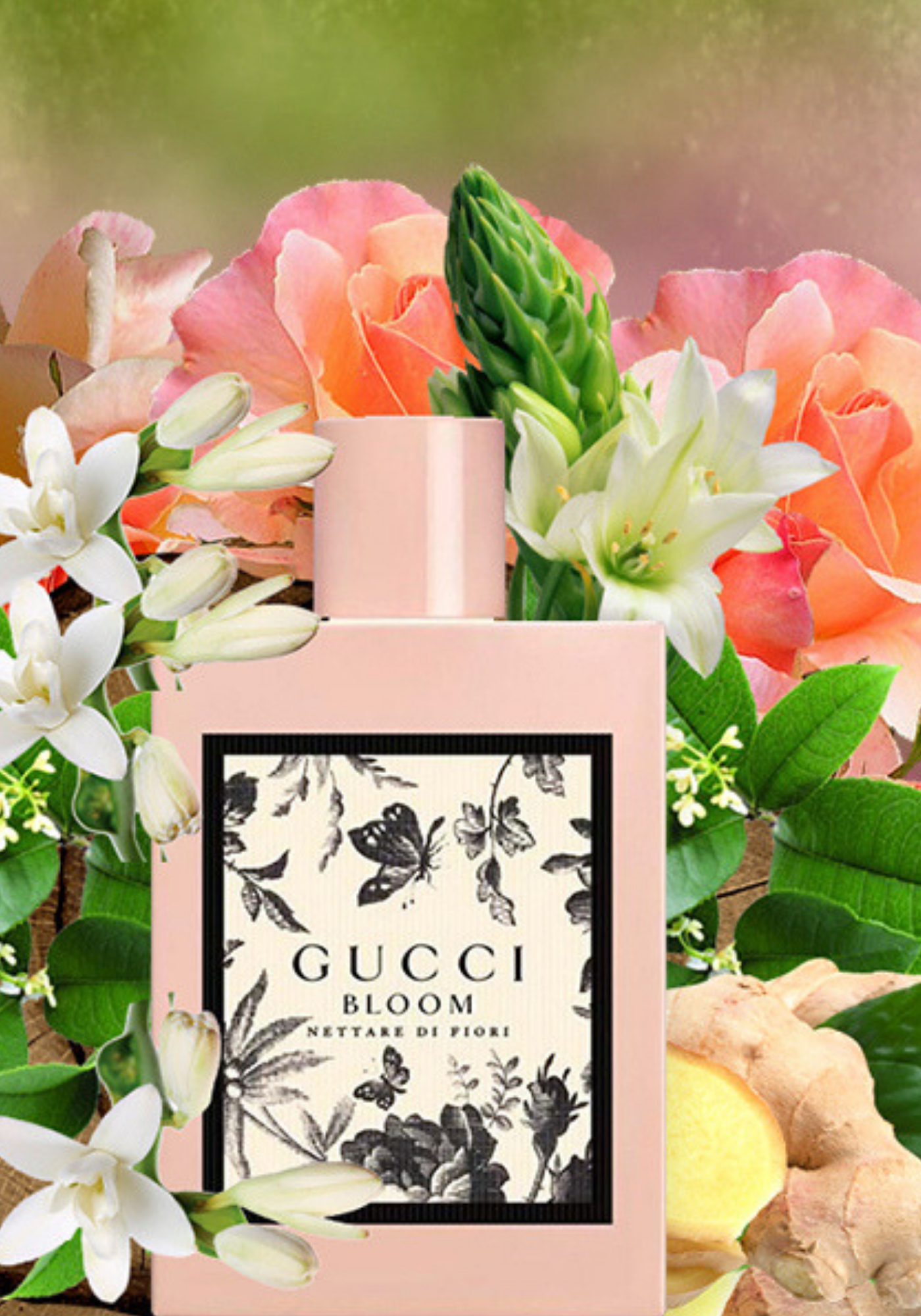 Gucci Bloom Is A Fresh Aromatic Garden In A Bottle The Perfume Released In 2017 Is A Gorgeous Blend Of Romantic Scents Fo Bottle Garden Fragrance Perfumery