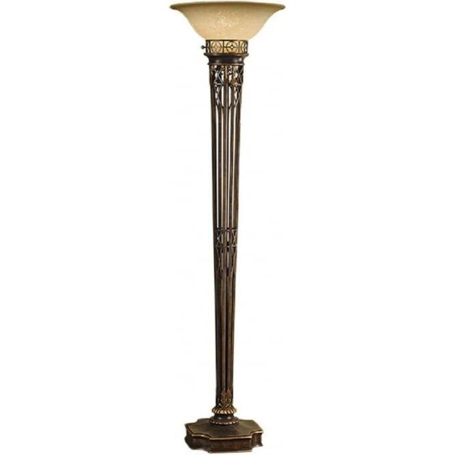 Opera Aged Br Uplighter Floor Lamp